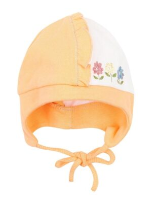 Шапка для дівчинки трикотажна жовта з вушками Garden