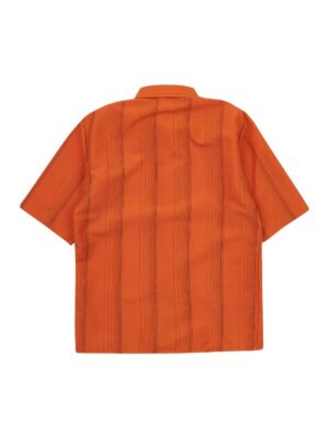 Тенниска для мальчика оранжевая в клеточку