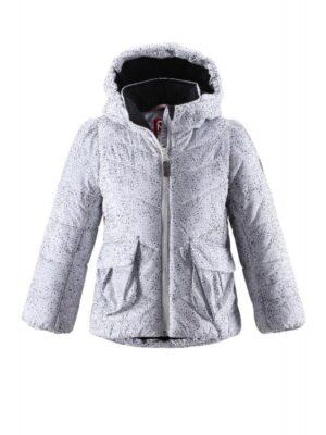 Куртка для дівчинки біло-сіра Luna