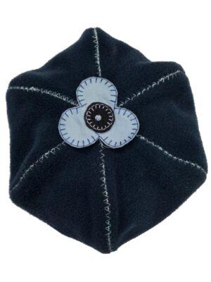 Берет зимний для девочки темно синий флисовый Gawrosz Pupill
