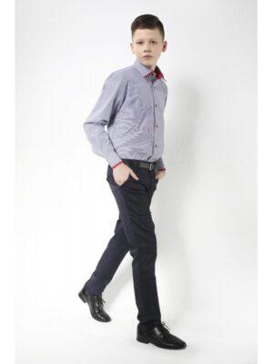 Штани для хлопчика завужені темно сині однотонні Zoldo Jankes