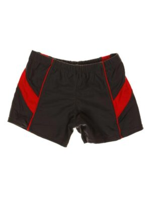 Шорти для хлопчика для басейну темно сірі з червоним