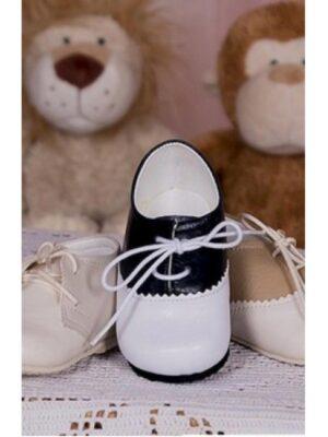 Туфли для мальчика бело-синего цвета
