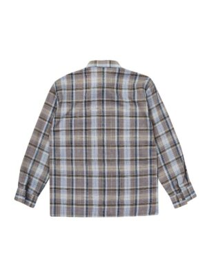Рубашка для мальчика в серую клетку