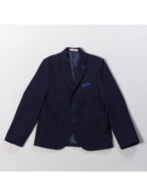 Пиджак для мальчика теплый клубный темно синий 181-Chris Новая форма