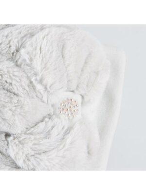 Зимняя шапка и шарф серого цвета для девочки Viviena Pupill