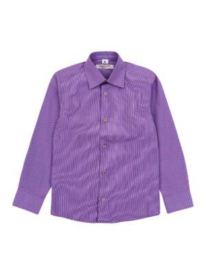 Рубашка для мальчика классика в сиреневом цвете полоска Арт.SS Jankes