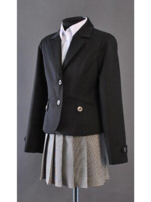Шкільний піджак для дівчинки чорного кольору 015
