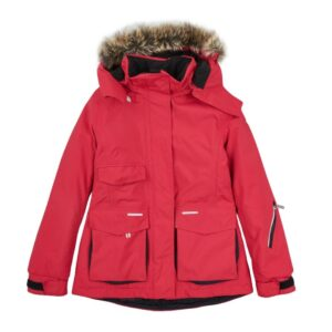 Куртка-парка для девочки красная 521137 Reima