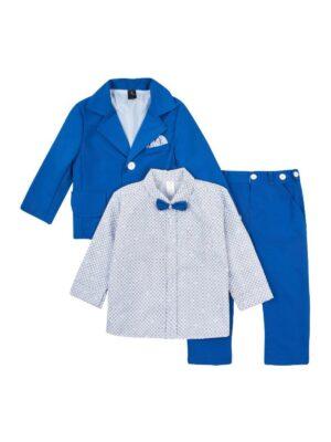 Комплект синего цвета с бабочкой для мальчика