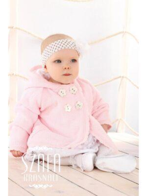 Нарядная кофта для девочки белая-розовая-серая нарядная