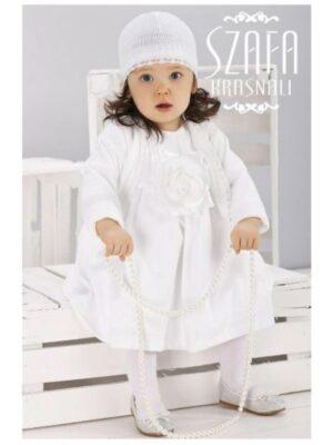 Ошатне плаття білого кольору з шапочкою