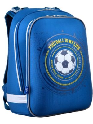 Рюкзак для мальчика каркасный с принтом мяча