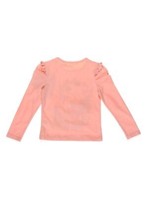 Реглан для дівчинки рожевий зі стразами