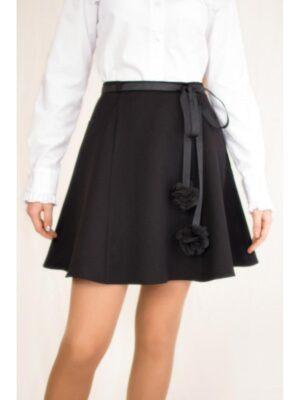 Школьная юбка для девочки черная 3017Albero