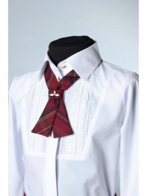 Блуза белая нарядная с галстуком для девочки