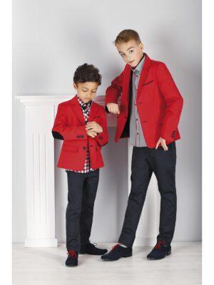 Піджак червоний Класичний для хлопчика