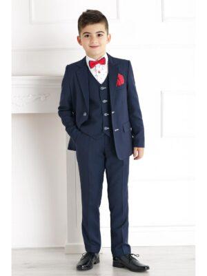 Костюм школьный для мальчика темно-синий пиджак и брюки ERVIN Jankes