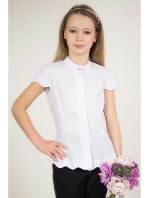 Блуза школьная для девочки с красивым волнистым краем Albero