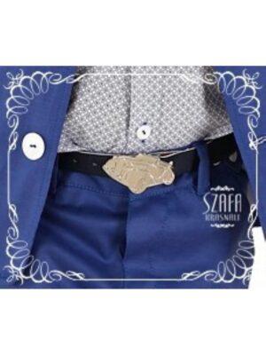 Ремінь для хлопчика чорний кожзам для штанів