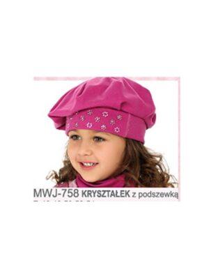 Бере малинового кольору для дівчинки зі стразами Krystalek