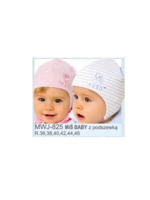 Шапка на завязках в полоску для малышей Mis Baby