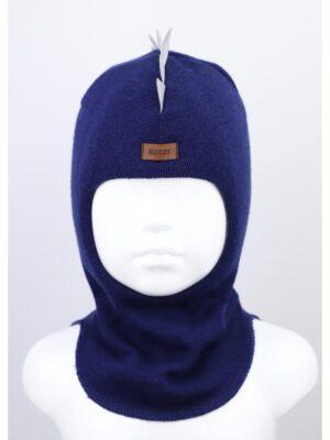Шапка шлем для мальчика синего цвета Дракоша