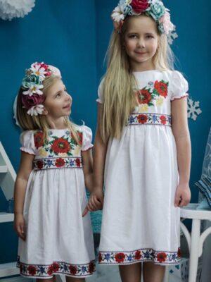 Сукня-вишиванка з маками для дівчинки