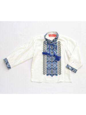 Вышиванка для мальчика з голубым орнаментом 4 Кольора Piccolo