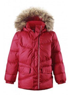 Куртка-пуховик для мальчика красная с мехом 531229 Reima