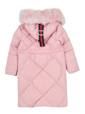 Пальто пухове для дівчинки рожеве Арт. 8863
