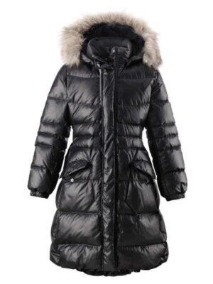 Пальто-пуховик для девочки черного цвета 531237 Reima