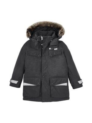 Куртка зимова парку для хлопчика чорна