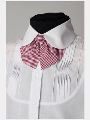 Школьный галстук бордового цвета для девочки