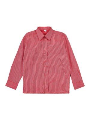 Сорочка для хлопчика яскраво червона смужка