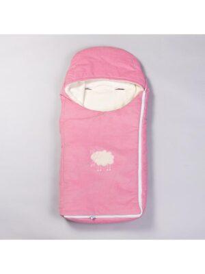 Конверт на флисе зимний для девочки грязно розовый Diskovery