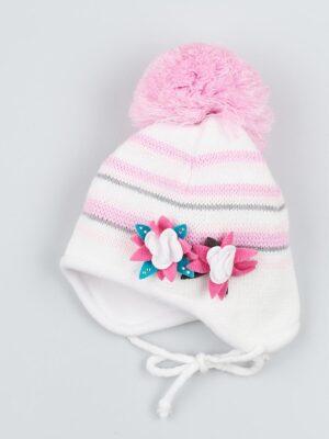 Комплект Зимовий для дівчинки біло рожевого кольору Pingu
