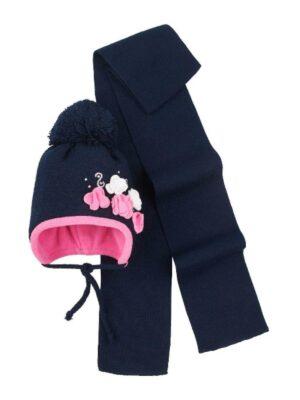 Комплект Зимовий для дівчинки темно синій