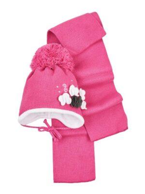 Комплект Зимовий для новонародженої дівчинки рожевий