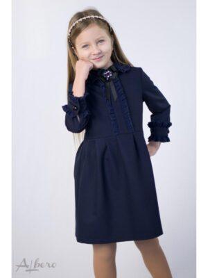 Сукня для дівчинки синє з середньою довжиною рукава