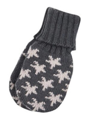 Варежки шерстяные для мальчика темно-серые со звездами 24198 Reima