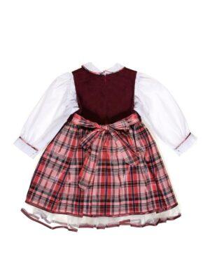 Сарафан с блузой для девочки с клетчатой юбкой