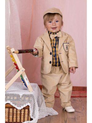 Комплект для хлопчика 4 предметів з піджаком і метеликом