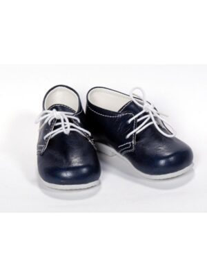 Туфлі-пінетки для хлопчика темно-сині з білим рядком Psotnik