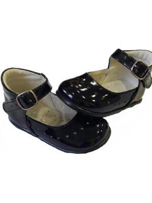 Туфлі для дівчинки чорного кольору лаковані