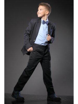 Школьные брюки черные для мальчика Велма