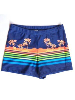 Плавки шорты для мальчика полосатые с пальмами Hawai Keyzi