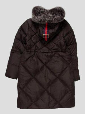 Пальто пуховое для девочки черное