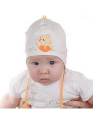 Шапочка для малышей с желтеньким утенком KACZOREK