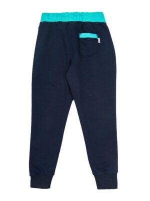 Спортивні штани для хлопчика сині з бірюзою